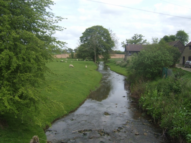 River Corve - upstream at Hungerford Mill