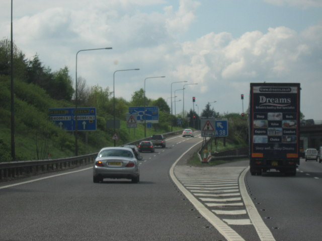 M42 Motorway Heading West Junction 1 Roy Hughes Cc