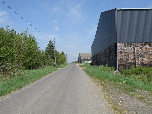 White House farm road frontage