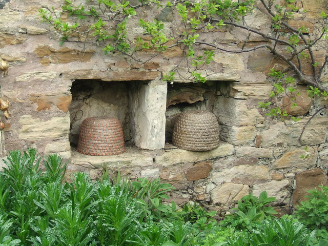 Bee boles, Kellie Castle garden