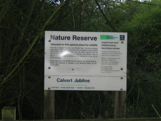 Noticeboard, Calvert Jubilee Nature Reserve