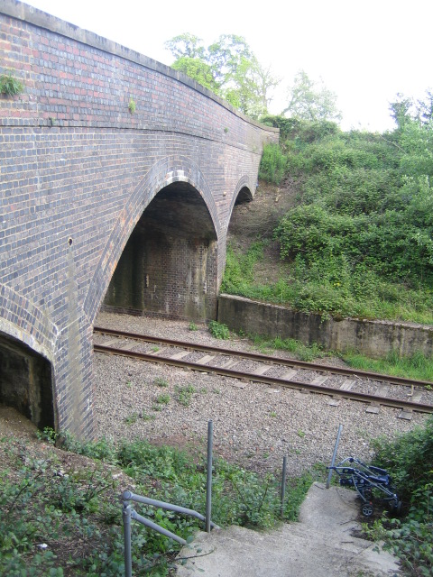 Road bridge over railway near Sandhill 2