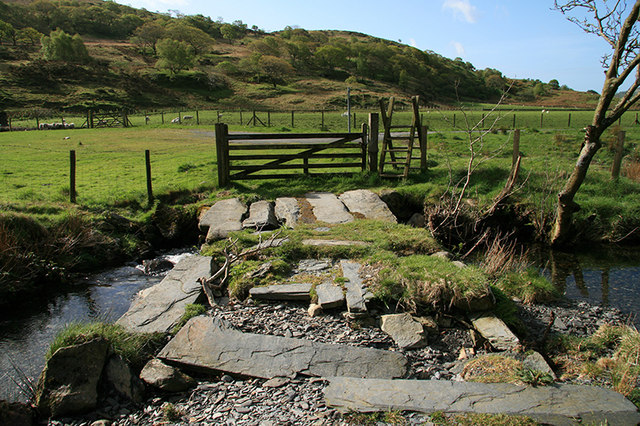 Old slab bridge, Cwm Pennant