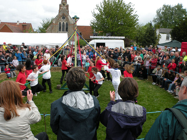 Dancing the Maypole at Reach Fair