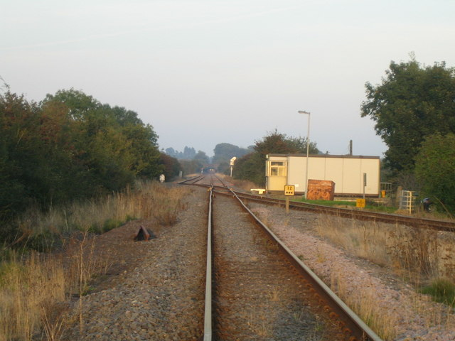 Railway junction near Calvert