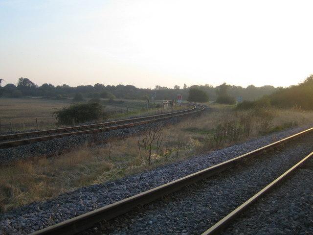 Railway lines near Calvert