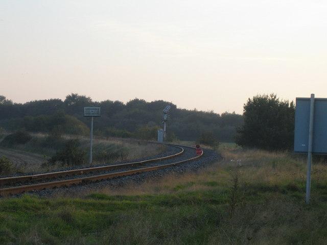 Railway loop near Calvert