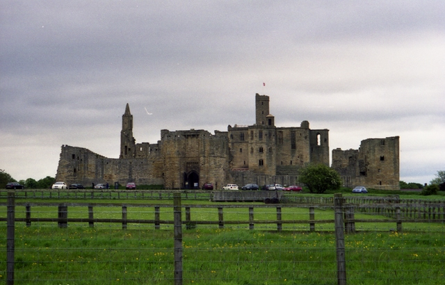 Overall view of Warkworth Castle