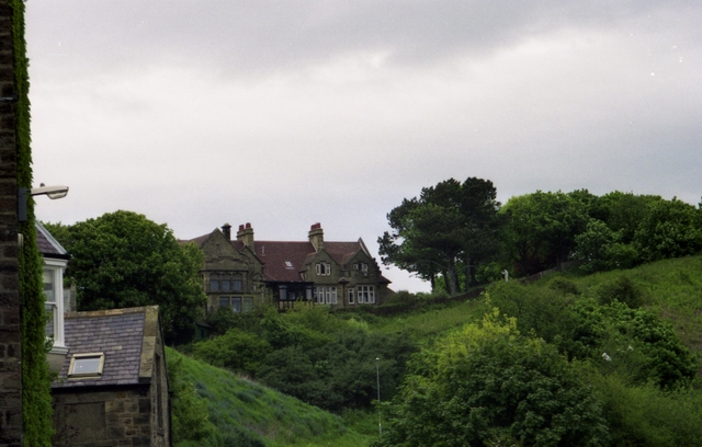 Houses overlooking Alnmouth Golf Course