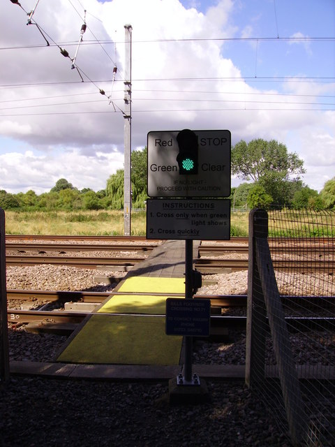 Foot crossing over East Coast Main Line