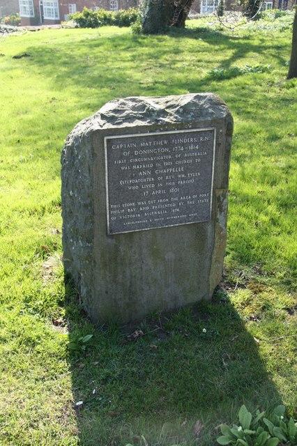Matthew Flinders stone