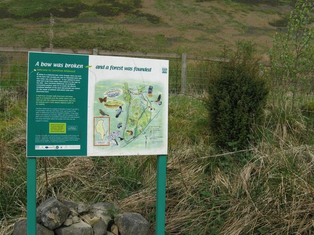 Information board at the Carrifran Wildwood carpark