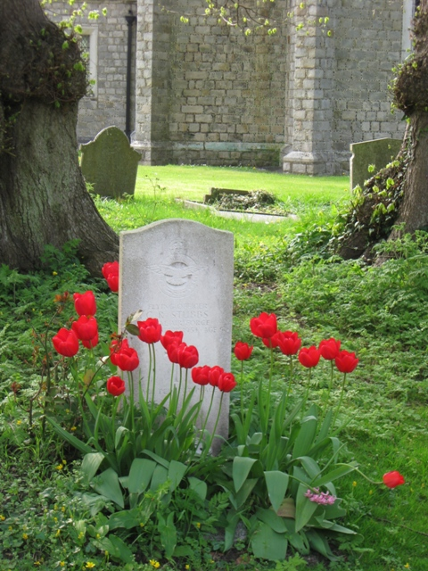 A War Grave with Tulips, St Michael's, Halton