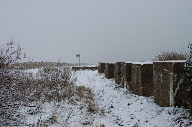 Tank Traps at Climping Gap