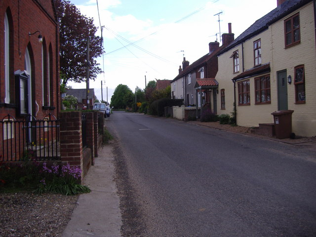 Looking south to the centre of the village