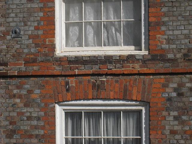 Brick Detail at 6 High Street, Hastings