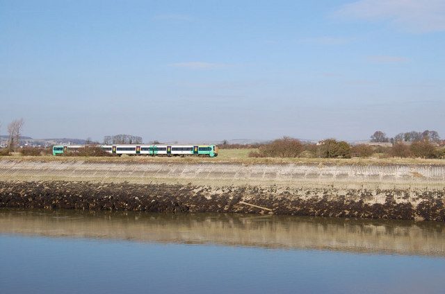 Train approaching Littlehampton