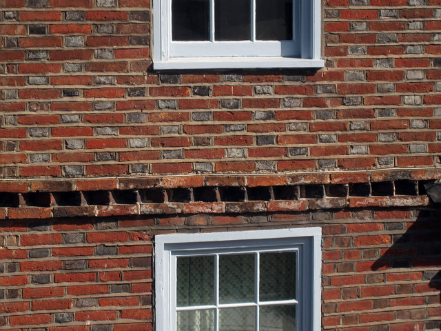 Brick Detail at 9 High Street, Hastings