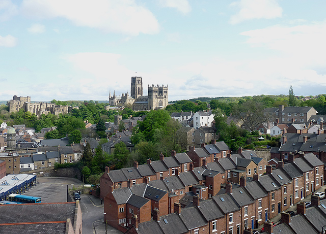Cathedral, Castle, Bus station, terraced houses