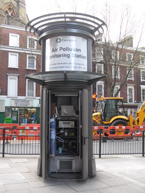 LB of Camden Air Pollution Monitoring Station, Shaftesbury Avenue, WC2