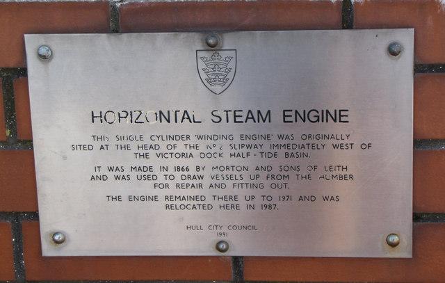 Morton Steam Engine plaque