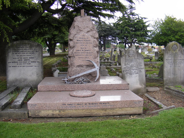 The Family Vault of Robert Hewett at Rippleside Cemetery