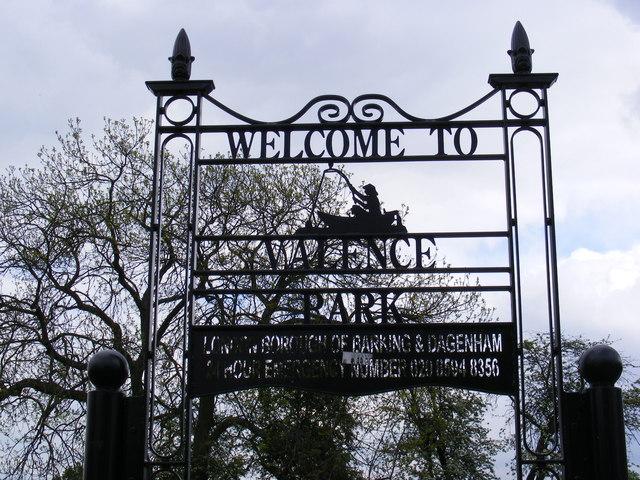 Valence Park Sign