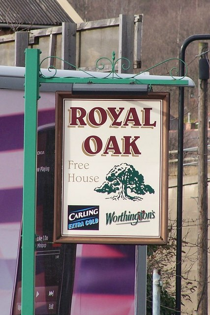 The Royal Oak Pub Sign, Blackburn Road, Sheffield
