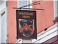 TQ4483 : Westbury Arms Public House sign by Adrian Cable