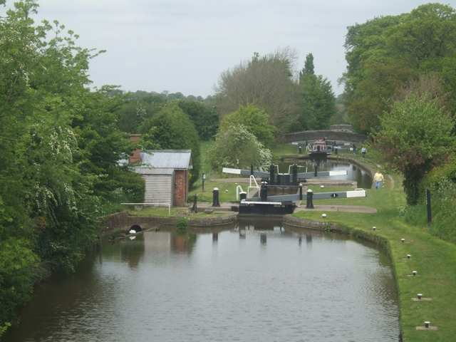 Adderley Locks - Shropshire Union -Top Lock
