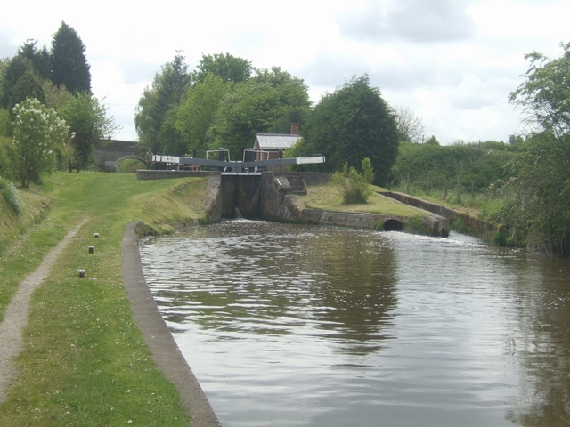 Top Lock - Adderley Locks - Shropshire Union
