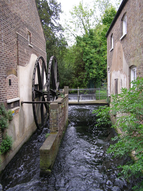 Morden Hall - Mill race and wheel