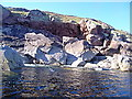 NB9501 : Rockfall cove by Toby Speight
