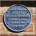 Photo of William Marwood blue plaque