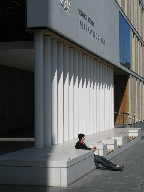 Entrance to Informatics Forum, Edinburgh University