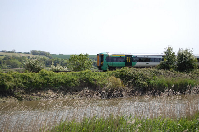 Train by the River Arun
