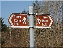 S9718 : Sign for Three Rocks Trail by David Hawgood