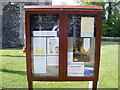 TL2966 : The Church of St. Mary Magdalene Notice Board,  Hilton by Adrian Cable