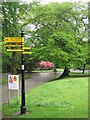 SP0683 : Rea Valley Cyclepath, Signpost Cannon Hill Park by Roy Hughes