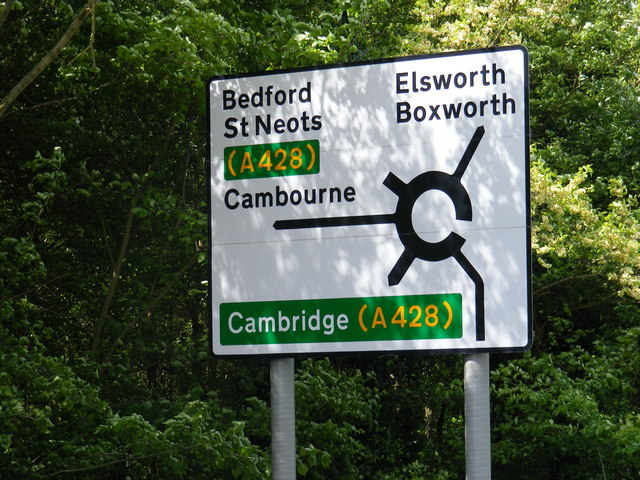 Roadsign on St.Neots Road