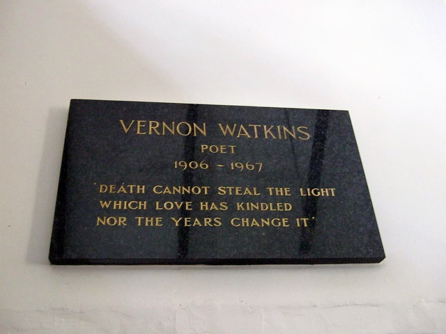 Vernon Watkins memorial at Pennard church