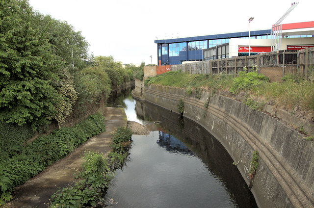 The River Brent at Vicar's Bridge, Alperton