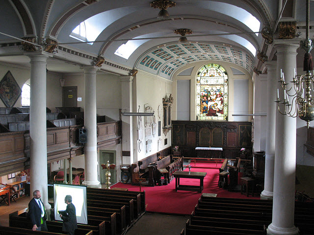 Interior of St Mary's church, Bermondsey