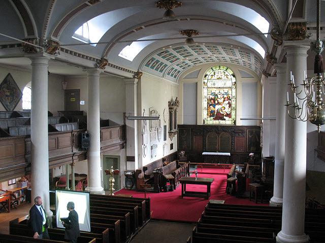 Interior of St Mary's church, Bermondsey