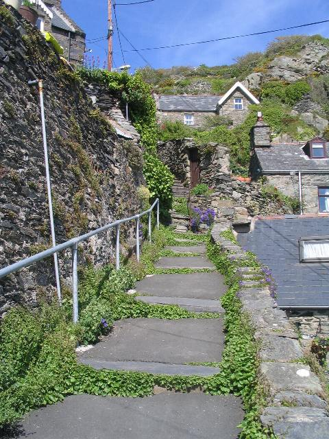 Steps through Old Barmouth