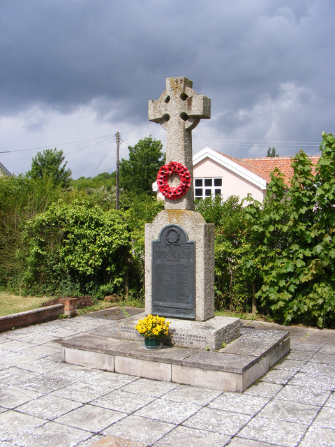 Peasenhall War Memorial at St.Michael's Church, Peasenhall