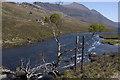 NH0085 : Gruinard River and old suspension bridge by Tom Richardson