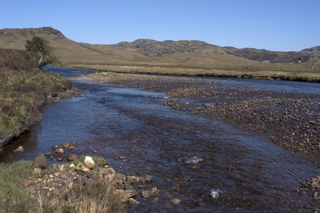 Gravel banks in the River Gruinard