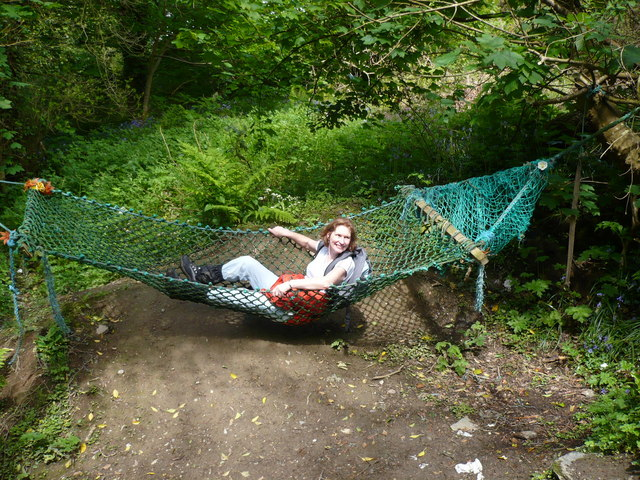 the hammock at the fairy bridge the hammock at the fairy bridge    phil catterall    geograph      rh   geograph org uk