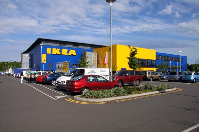 ikea in bletchley steve daniels geograph britain and. Black Bedroom Furniture Sets. Home Design Ideas